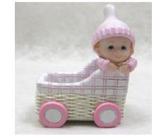Contenant à dragées, Berceau avec figurine Bébé fille - Objet à poser