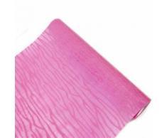 Chemin de table intissé floque ecorce coloris Fuschia - 29 cm x 5 m - Objet à poser