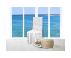 Housse de chaise jacquard COTONADE gris clair - Textile séjour
