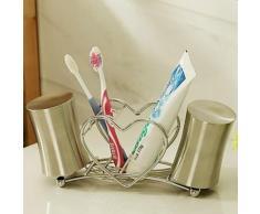 Porte-brosse à dents en forme de cur en inox - Accessoires salles de bain et WC