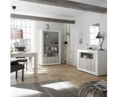 Nouvomeuble - Ensemble salle à manger complète blanc laqué urban 3 - Tables salle à manger