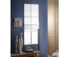 Store Bateau Tamisant Ondulé - 120 x 180cm-Blanc - Fenêtres et volets