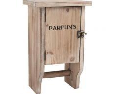Petite armoire en bois avec dérouleur papier WC, 20 x 36 x 64 cm -PEGANE- - Accessoires salles de bain et WC