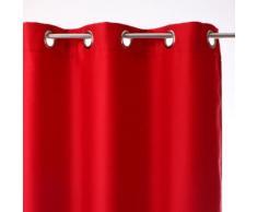 Rideau de salon occultant 8 illets - 140 x 260 cm - Rouge - Rideaux et stores