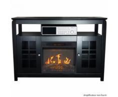 Meuble tv avec cheminée électrique 2000w - 148 - CHEMIN'ARTE - Chauffage et ventilation