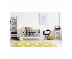 MADRID Tapis enfants 120X170 cm Jaune / Blanc - Tapis et paillasson