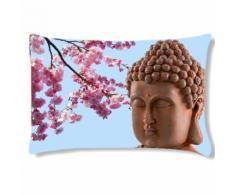 Coussin rectangulaire fleur zen by Cbkreation - Textile séjour