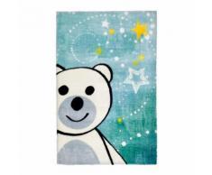 Tapis pour chambre bébé multicolore doux en polyester ours - Tapis et paillasson