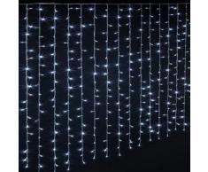Rideau lumineux extérieur 600 LED blanc froid - Dim : L.300 x l.0,5 x H.200 cm -PEGANE- - Objet à poser