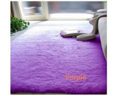 Tapis de bain à poils longs en soie Violet - Accessoires de bain