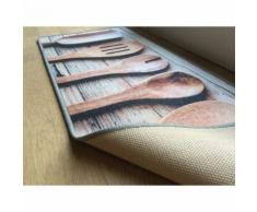 Tapis de cuisine motif Cuillères en bois - Tapis et paillasson