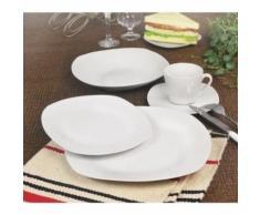 T1003048-30x service de table - 30 pcs - porcelaine blanche - vaisselle