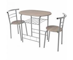 vidaXL Ensemble de meuble pour salle à manger cuisine MDF Table tabouret de bar - Chaise