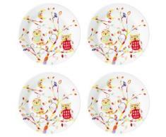 Table Passion - Set 4 Assiette Dessert Hedwige Porcelaine - vaisselle