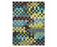 Tapis PIXEL par Esprit Home motif Géométrique Vert et bleu 120x180 - Tapis et paillasson