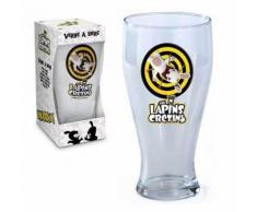 Verre à bière Lapins crétins - Verrerie