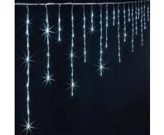 Rideau extèrieur lumineux 140 LED blanc - Dim : L.400 x l.0,5 x H.36 cm -PEGANE- - Objet à poser