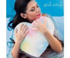 Coussin coeur LED en peluche oreiller veilleuse lumineux - Rideaux et stores