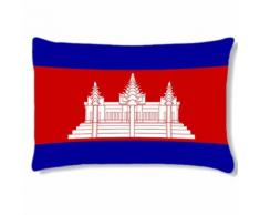 Grand coussin rectangulaire Cambodge by Cbkreation - Textile séjour