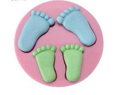 Alpexe Moule de Cuisson PIED ENFANT 3D Pour Gâteau Pour Cookie Pour Tarte Silikon Ecologique - Ustensiles