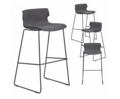 Chaise haute design grise JUDY 3, lot de 4 - Tabourets