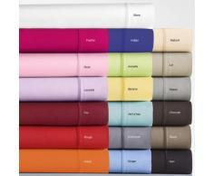 taie oreiller unie coton 57 fils 065X65 SAC BLANC- BLANC - Linge de lit