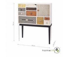 Très belle commode vintage 10 tiroirs de tailles différentes et 1 porte bois massif métal MDF cuir couleur blanc couloir chambre à coucher salon diverses couleurs poignées stylées différentes - Commodes