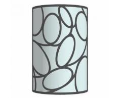 Elos applique tôle acier verre cylindre 15x23x9 cm noir anthracite tosel 31280 - Appliques et spots