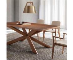 Table en bois contemporaine ISTANBUL - L 210 x P 95 x H 75 cm - Tables salle à manger