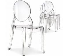 Lot de 20 chaises médaillon Diva Plexi Transparent - Chaise