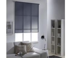 Store Enrouleur Tamisant LOFT rayé Blanc - 45 x 190cm - Fenêtres et volets