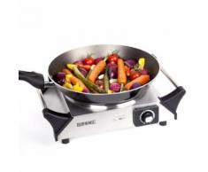 Duronic HP1SS Plaque de cuisson électrique en fonte - Réchaud de 1500W - Thermostat ajustable - Grillade et barbecue