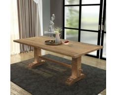 Table de salle à manger massive 200x100x75 cm Bois de teck - Tables salle à manger