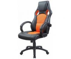 Fauteuil de bureau sport cuir orange 0509005 - Sièges et fauteuils de bureau