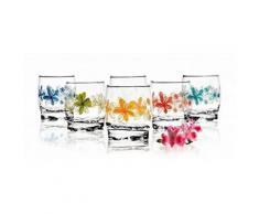 6 Verres Gobelets à eau, Soda et à jus / Collection Langages des Fleurs / 250 ml / Sables & Reflets - Verrerie