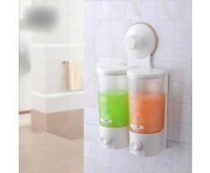 Distributeur de savon liquide pour salles de bain de style contemporain avec fixation murale en ventouse extra-forte - Accessoires de bain