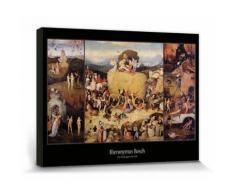 Jérôme Bosch Poster Reproduction Sur Toile, Tendue Sur Châssis - Le Chariot De Foin, 1516 (30x40 cm) - Décoration murale