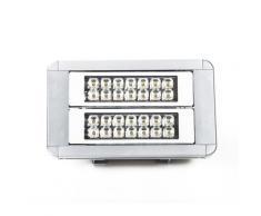 Projecteur LED grande hauteur 80W 376 mm X 223 mm X 95 mm angle 60° 8000lm IP65 4000K, blanc neutre lumière du jour équerres ajustables et câbles 3m inclus - Suspensions et plafonniers