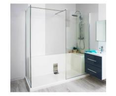 Aqua+ - baignoire acrylique brillant découpable angle gauche 85 x 185 - concept-o monobloc - Installations salles de bain