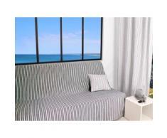 Jeté de canapé 170x250 cm COTONADE gris Gris - Textile séjour
