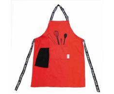 Tablier de cuisine 60x84 DINER MENU rouge - Autres