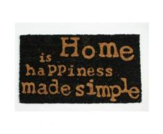 Chez-Soi Paillasson Essuie-Pieds - Home Is Happiness Made Simple, Retro (40x70 cm) - Tapis et paillasson