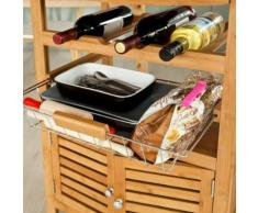 SoBuy® Desserte/Chariot de cuisine service , Meuble rangement roulant FKW09-N FR - Dessertes de rangement