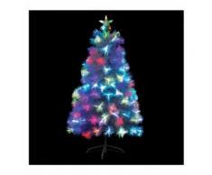 Sapin De Noël Avec Fibres Optiques Blanc De 120 Cm De Hauteur - Objet à poser