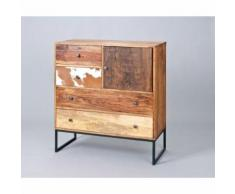 Paris Prix - Commode 4 Tiroirs Bois san Antonio 100cm Naturel - Commodes
