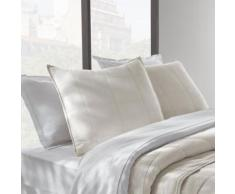 Paris prix - lot de 2 taies d'oreiller 60x60cm blanc - Linge de lit