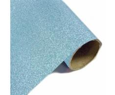 Lot de 10 Rouleaux Chemin de table effet en métal pailleté Turquoise - 28 cm x 5m - Objet à poser