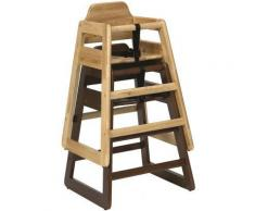 Chaise bébé naturel en bois d'Hévéa 52x50,5x73cm - linge de table et décoration