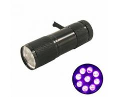 Lampe de poche 9 led lumiere uv de couleur noir - Torches