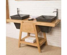 Meuble sous vasque en teck Khéops 140 cm - Installations salles de bain